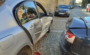 Cuatro turismos afectados en un aparatoso accidente sin heridos en Medina de Rioseco
