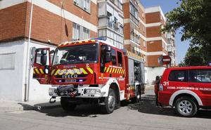 Un trapo en llamas alerta al campus universitario de Palencia