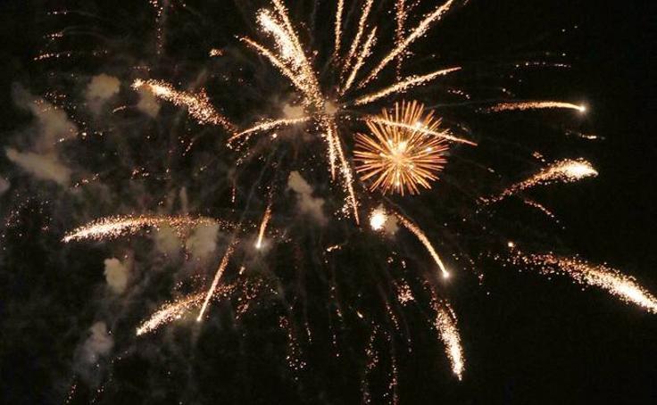 Última sesión de fuegos artificiales de las fiestas de Valladolid