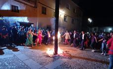 Colocación y quema del castillo en San Esteban