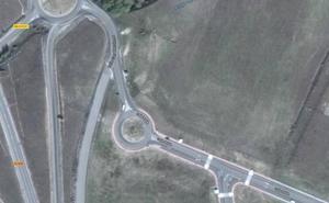 La rotonda poco útil del polígono de Valverde del Majano