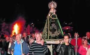 Una procesión entre llamas en Palenzuela