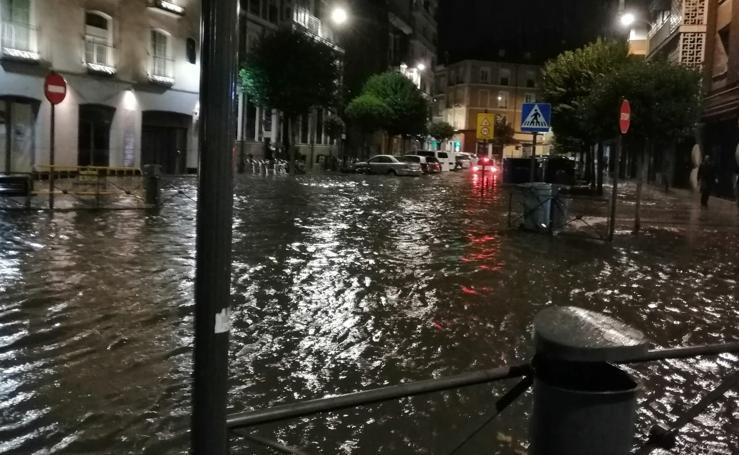 Las impresionantes fotos de la tromba de agua en Valladolid