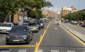 Las obras reducen a un carril en cada sentido la circulación por la avenida de Segovia de Valladolid