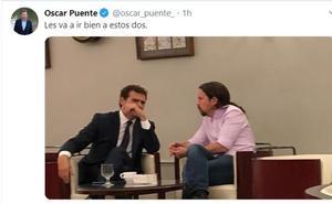 Óscar Puente publica una foto indiscreta y provoca la ira de Rufián y Pablo Iglesias