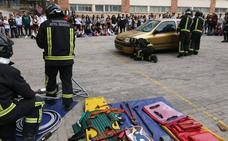 Los escolares aprenden consignas para una circulación segura