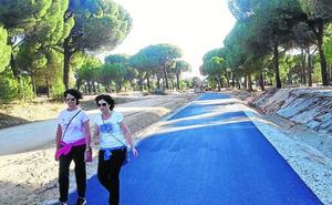 Pedrajas prolonga el carril-bici hasta la zona recreativa de la ermita de Sacedón
