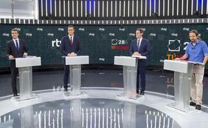 RTVE ofrece un debate a cinco el 4 de noviembre ante las posibles elecciones el 10N