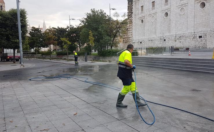 Valladolid recupera la normalidad tras la espectacular tromba de agua