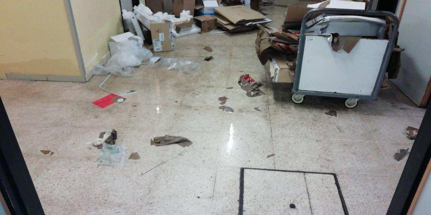 La tormenta causa daños en el Centro de Salud de Arturo Eyries