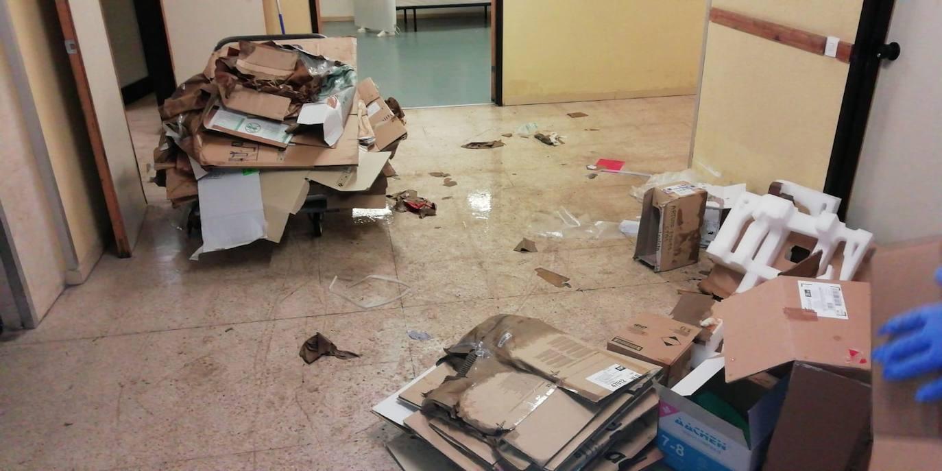 Daños por la tormenta en el Centro de Salud de Arturo Eyries