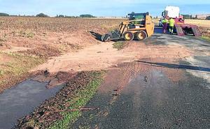 Las últimas tormentas dañan varias carreteras de la red provincial