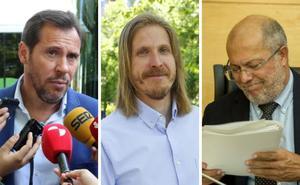 Pablo Fernández tilda de «florero» a Óscar Puente e Igea asegura que es más «un jarrón chino»
