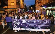 Manifestación contra la violencia machista en Salamanca