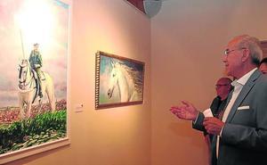 Isaías Salamanca muestra sus retratos, bodegones y caballos al óleo en Tenerías de Cuéllar