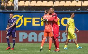 Masip volvió a ser el mejor del Real Valladolid ante el Villarreal