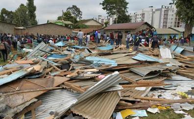 Al menos siete niños muertos y 57 heridos al derrumbarse una escuela en Nairobi