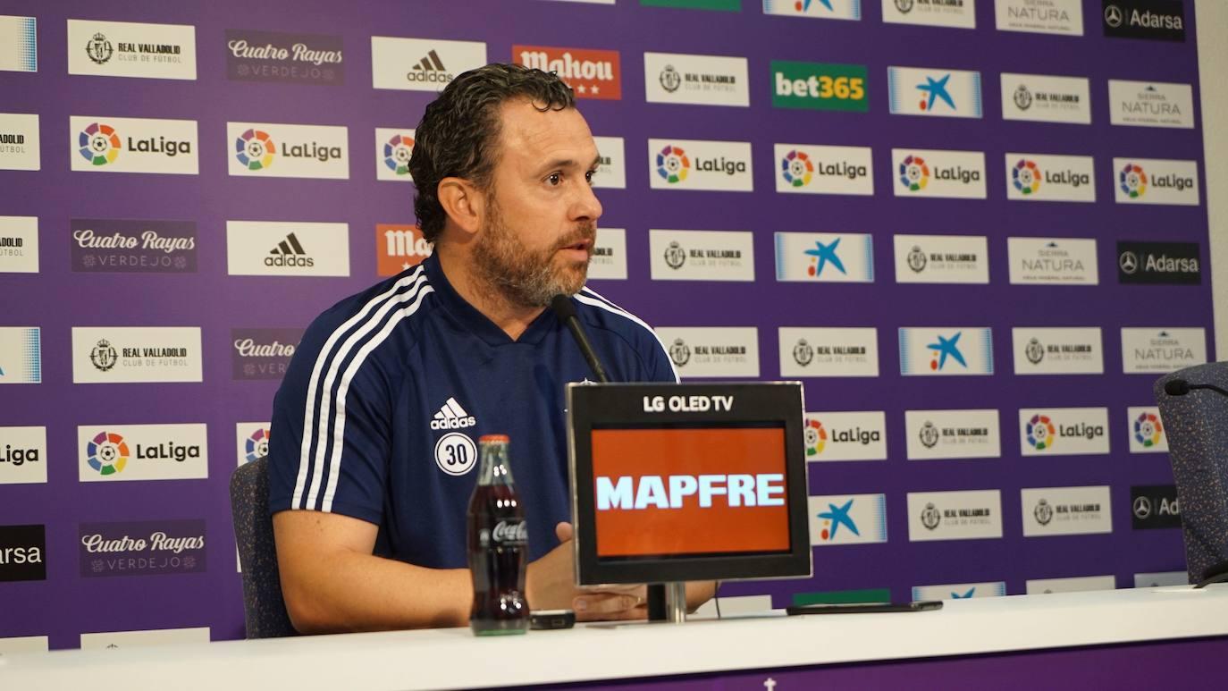 Sergio cree que el Real Valladolid debe igualar la intensidad del Granada e ir a por el partido