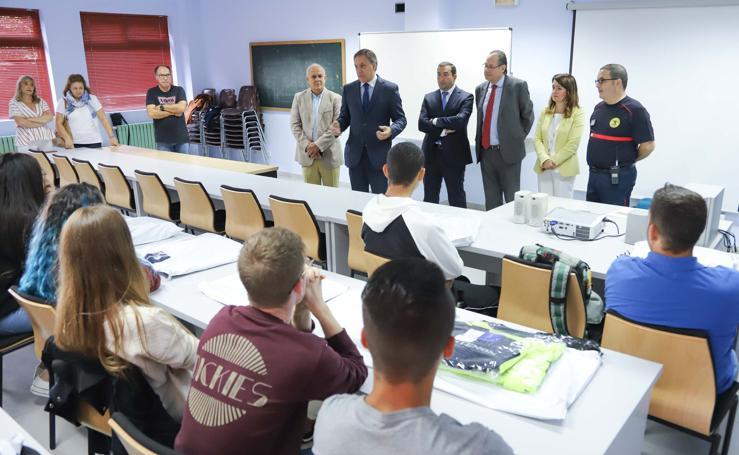 Comienza el segundo curso del Ciclo Formativo de Grado Medio en Emergencias y Protección Civil en el Parque de Bomberos de Salamanca