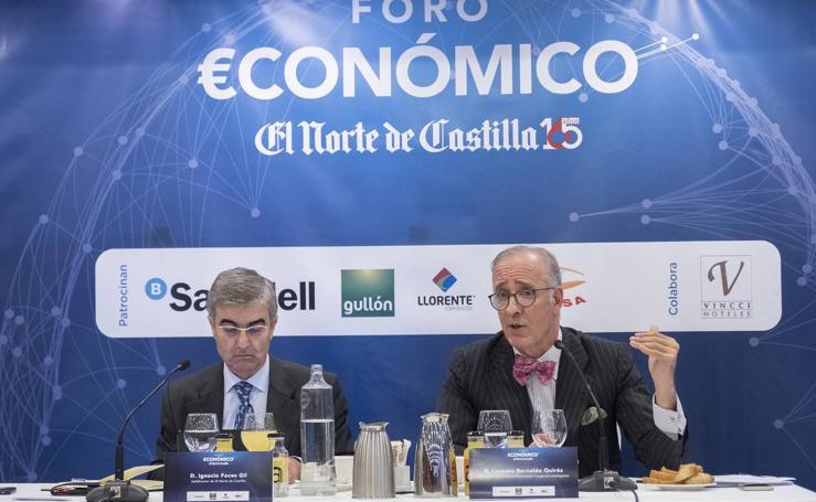 Lorenzo Bernaldo Quirós, en el Foro Económico de El Norte de Castilla