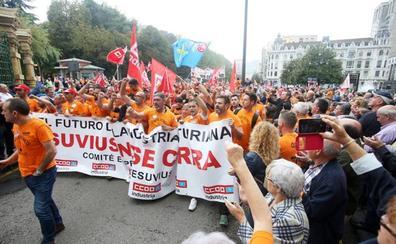 Muere un trabajador de Vesuvius de Miranda de Ebro tras volver de la marcha en Oviedo
