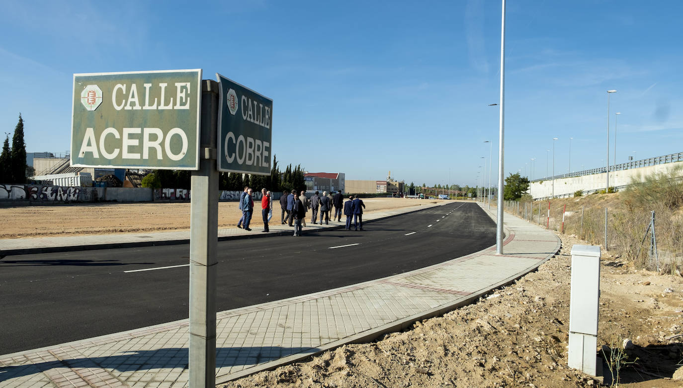 El polígono de San Cristóbal de Valladolid recupera un acceso perdido en 2008 por la calle Cobre