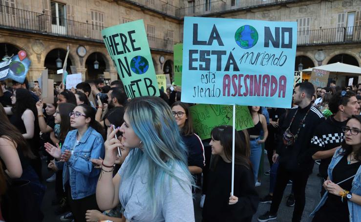 El cambio climático saca a la calle a 4.500 estudiantes de Salamanca