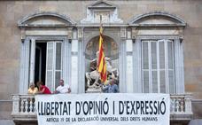 La Junta Electoral da 48 horas a Torra para retirar las pancartas independentistas