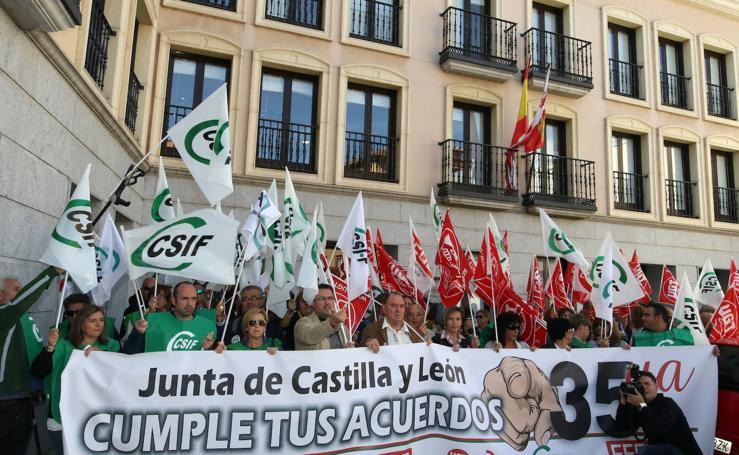 Protesta por la jornada de 35 horas en Segovia
