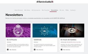 Las newsletters de El Norte de Castilla, exclusivas para suscriptores desde esta semana