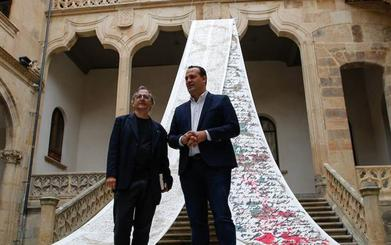 Exposición «profundamente espiritual» de Miguel Elías en La Salina de Salamanca