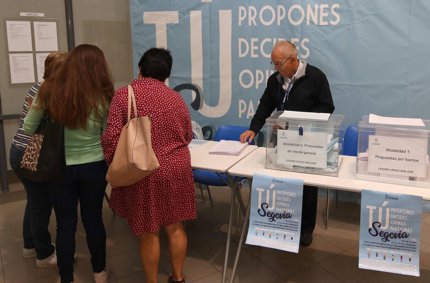 Así va la votación de los presupuestos participativos de Segovia