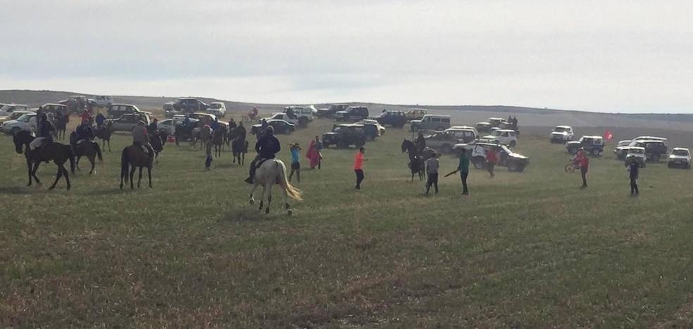 200 caballistas participan en el encierro campero de Villabrágima