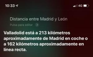UPL denuncia que el asistente 'Siri' de Apple no indica las distancias entre León y otras provincias