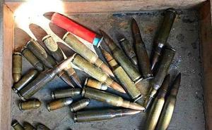 Intervienen en el mercadillo de Valladolid una caja con munición en uso a la venta