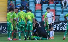 Unionistas denunciará a Kristian ante Competición tras el codazo a Álvaro Romero que le provocó varias fracturas en el pómulo