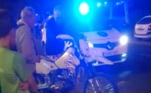 Un motorista resulta herido en un accidente en el barrio de San Antonio en Palencia