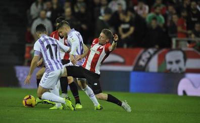 El Real Valladolid estará arropado por 550 seguidores en el partido de San Mamés