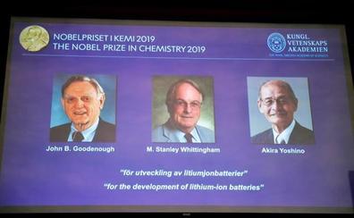 Los tres inventores de la batería de litio ganan el Nobel de Química