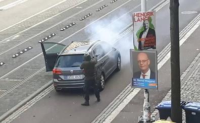 Un detenido tras el tiroteo con dos muertos junto a una sinagoga en el este de Alemania