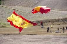 Exhibición aérea en Antigüedad (Palencia)