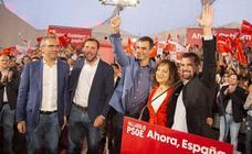 Pedro Sánchez, participa en un acto político en la Cúpula del Milenio de Valladolid