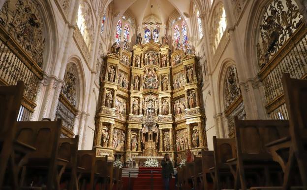 Resultado de imagen de INTERIOR DE LA CATEDRAL DE BURGOS. ALTAR MAYOR