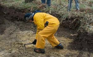 La fosa de mujeres de La Pedraja habría sido exhumada al quedar al descubierto por un incendio