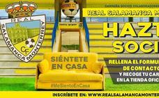 'Siéntete en Casa, hazte socio colaborador', lema del Real Salamanca Monterrey para su campaña