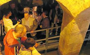 Cientos de visitantes indagan en el subsuelo de Villalón con la visita a varias bodegas