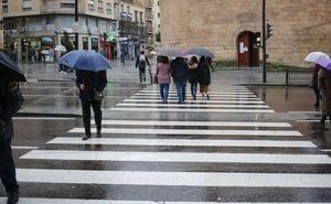 Alerta amarilla para este lunes por lluvias y viento en diversos puntos de la provincia de Salamanca