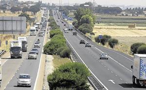Un accidente en Geria provoca retenciones de hasta ocho kilómetros en la A-62 en sentido Burgos