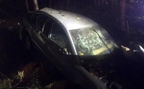 Dos fallecidos tras sufrir una aparatosa salida de vía en la Nacional 630 en León