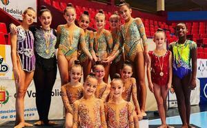 Nueva exhibición del Rítmica Salamanca en el Campeonato regional de conjuntos y Copa Individual base